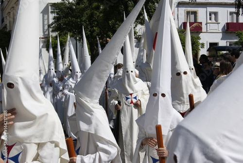 Traditional holy week in Jerez, Spain