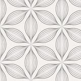 Vector pattern. Monochrome ornament with dotted abstract flower. pattern is on swatches panel - 144217575