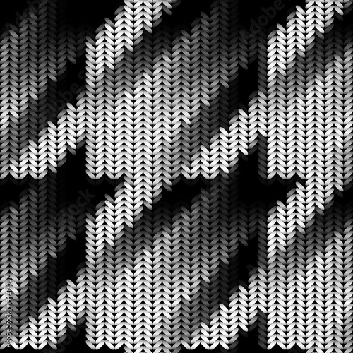Photo  Seamless Hounds-tooth pattern