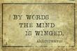 Leinwanddruck Bild - By words Aristophanes