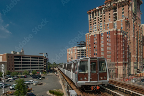 Washington DC Metro train leaving Eisenhower Avenue station. Canvas Print