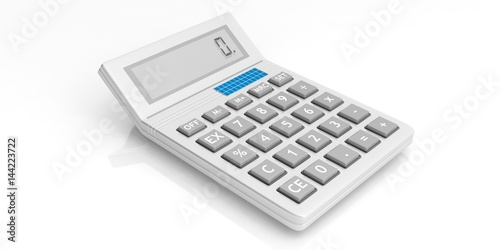 Calculator on white background. 3d illustration