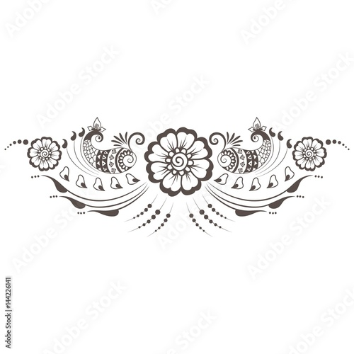 Fotomural  Vector illustration of mehndi ornament