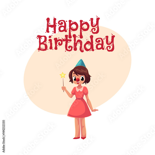 Happy Birthday Vector Greeting Card Poster Banner Design