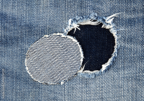 Stampa su Tela  Patched jeans detail