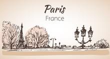 Paris Horizontal Cityspace. Sk...