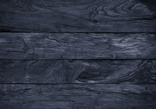 Old Rustic Weathered Wooden Background Of Blue Color