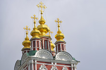 Towers Of Novodevichy Convent In Moscow.