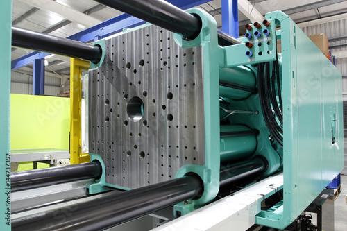 Injection moulding machine Canvas Print