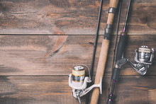 Fishing Rods And Reels With Li...