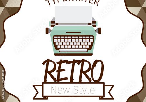 Retro Typewriter Logo Layout With Background Buy This Stock - Logo layout templates
