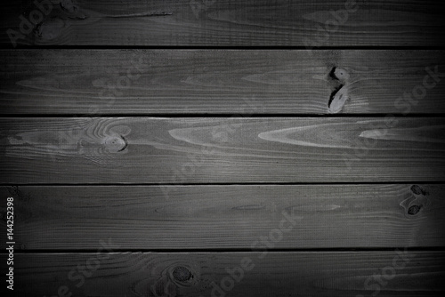 Black wood background - 144252398