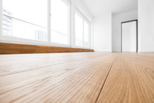 Empty Room, Wooden Floor In Ne...