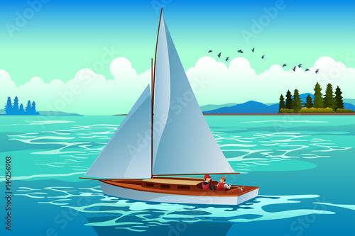 Fotografie, Obraz  People Sailing on the Sea