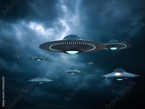 Valokuva UFO invasion