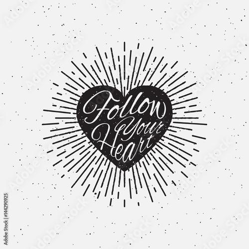 Photo  Sparkling heart lettering