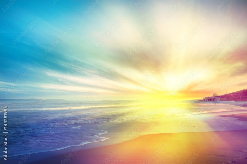Fototapeta Tramonto sul mare