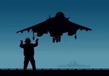 An Aircraft Carrier, A Plane W...