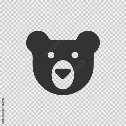 teddy bear face vector icon eps 10 simple isolated logo symbol on transparent background buy this stock vector and explore similar vectors at adobe stock adobe stock teddy bear face vector icon eps 10