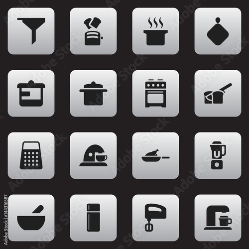 Photo Set Of 16 Editable Meal Icons