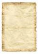 Leinwanddruck Bild Altes Papier mit Falten