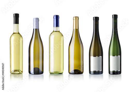 Tela diverse Weissweinflaschen