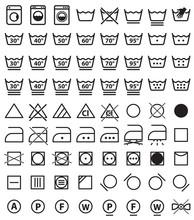 Laundry Icons, Washing Symbols...