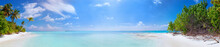 Panorama Of Beach At Maldives ...
