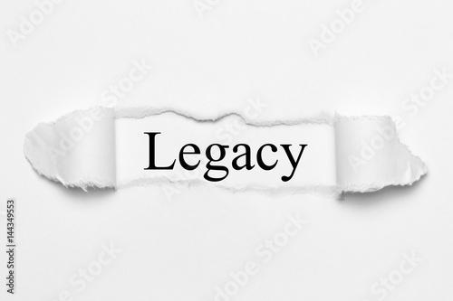 фотографія  Legacy on white torn paper