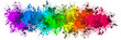 canvas print picture - Multi-Color Paint Splatter Border/Background