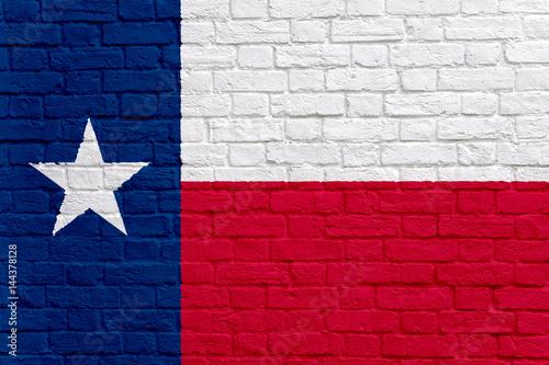 Foto op Plexiglas Texas Flag of Texas with wall texture