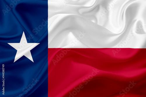 Foto op Plexiglas Texas Flag of Texas with fabric texture