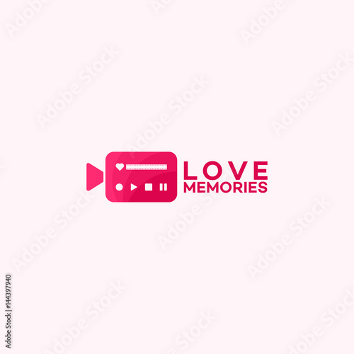 Fotografie, Obraz  Memories collection, Love Videography logo template designs