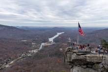People Who Climbed Chimney Rock And Lake Lure