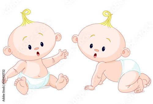Printed kitchen splashbacks Fairytale World Sweet Twins