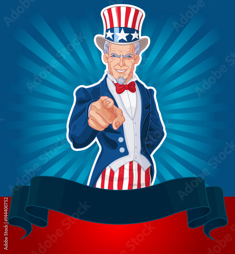 Tuinposter Sprookjeswereld Uncle Sam Wants You!