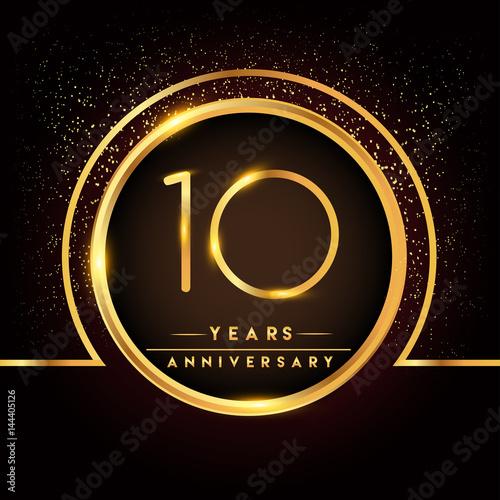 Ten Years Birthday Celebration Logotype 10th Anniversary Logo With