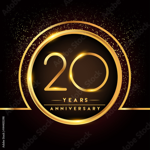 Photographie  twenty years birthday celebration logotype