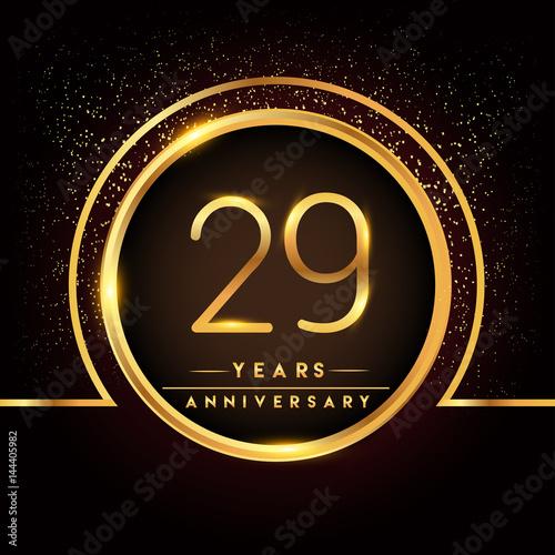 Twenty Nine Years Birthday Celebration Logotype 29th Anniversary