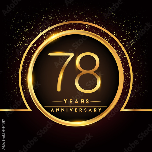 Seventy Eight Years Birthday Celebration Logotype 78th Anniversary
