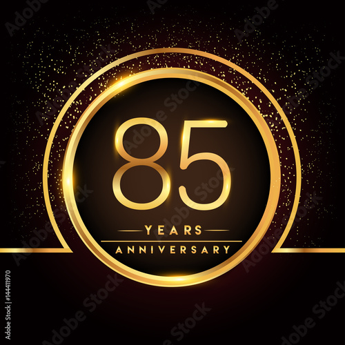 Tela  eighty five years birthday celebration logotype