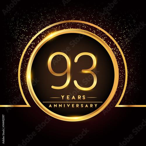 Valokuva  ninety three years birthday celebration logotype
