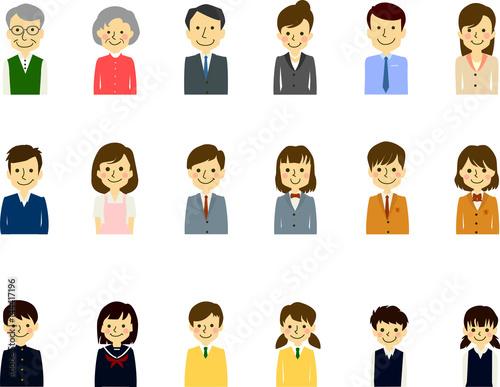 家族3世代 夫婦 親子 学生