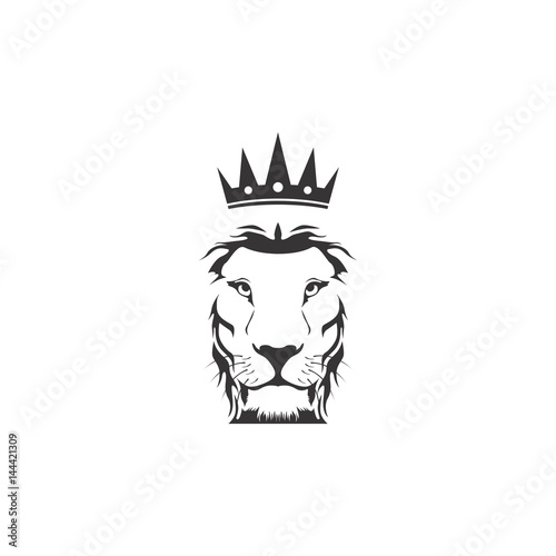 Abstract Lion Crown Logo