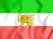 Leinwandbild Motiv Flag of Iran (1910-1925). Old Lion and Sun Flag. 3D Illustration.