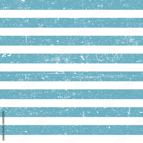 Stampa su Tela Seamless marine background. Blue grunge lines pattern