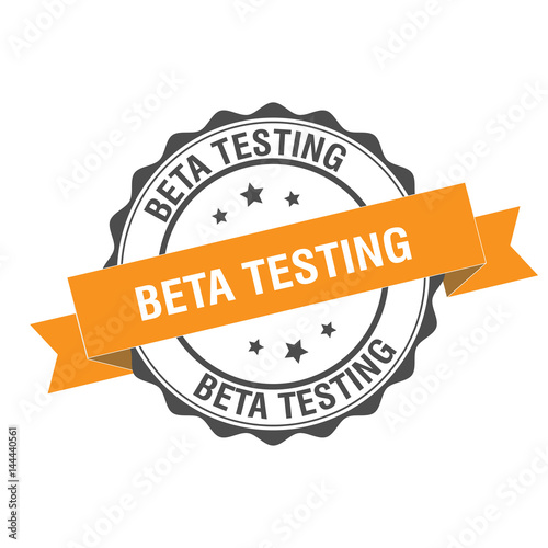 Photo Beta testing stamp illustration