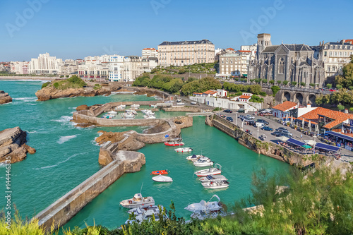 Port for small boats in Biarritz, Aquitaine, France