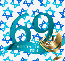 Independence Day Of Israel Poster Template.