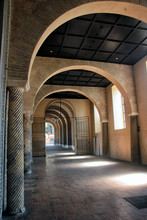 Medieval Arched Hallway With B...
